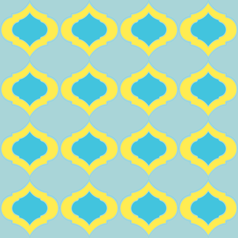 Blue and Yellow Cameo  fabric by joanmclemore on Spoonflower - custom fabric