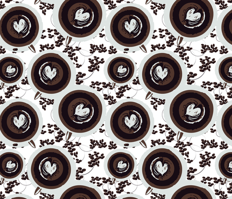 GoodMorning fabric by seattlerain on Spoonflower - custom fabric