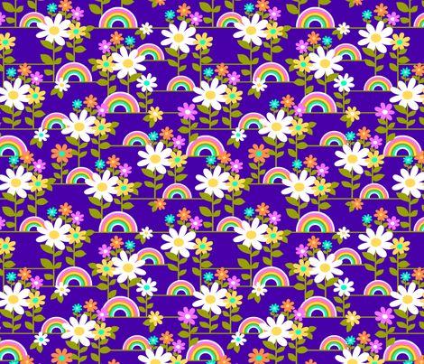 Rainbow Garden fabric by collectivesurfacellc on Spoonflower - custom fabric