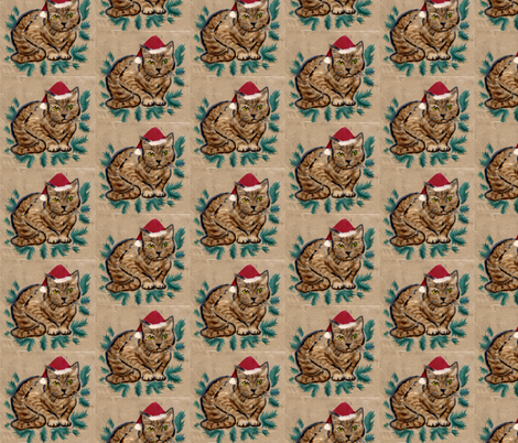 The christmas Cat fabric by vinkeli on Spoonflower - custom fabric