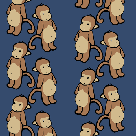 Plain-Belly Monkeys fabric by pond_ripple on Spoonflower - custom fabric
