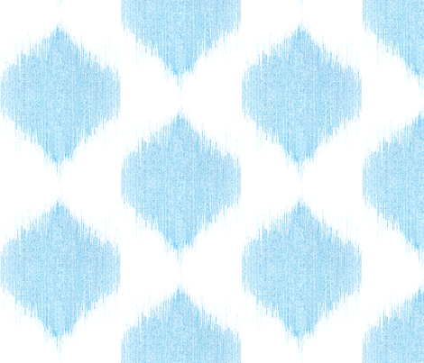 "IKAT TEARDROPS in ""OCEAN"" fabric by trcreative on Spoonflower - custom fabric"