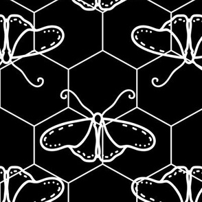 Butterfly Blueprint - 04 - Black and White Negative