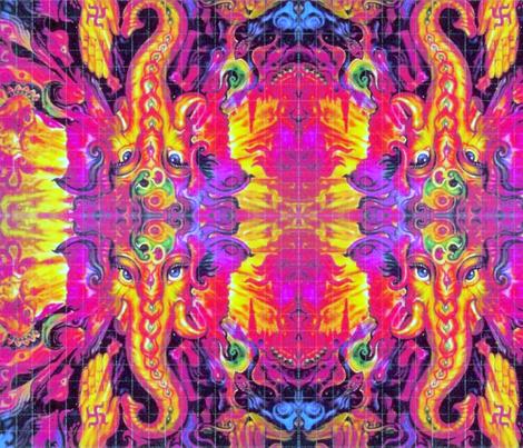 Ghanesha Blotter fabric by highonsunshinevibes on Spoonflower - custom fabric