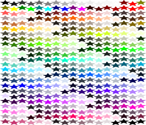 Inkscape Default Color Chart- Fat Quarter