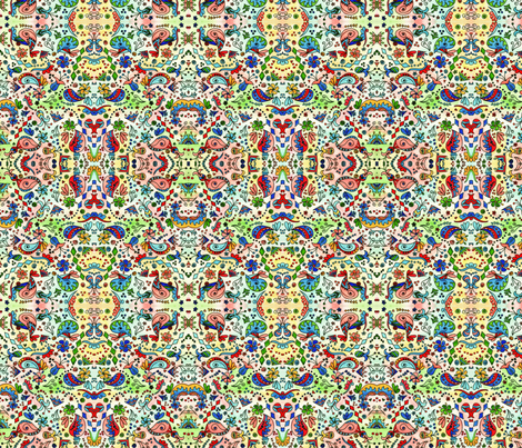 Rainbow Garden fabric by poppydreamz on Spoonflower - custom fabric