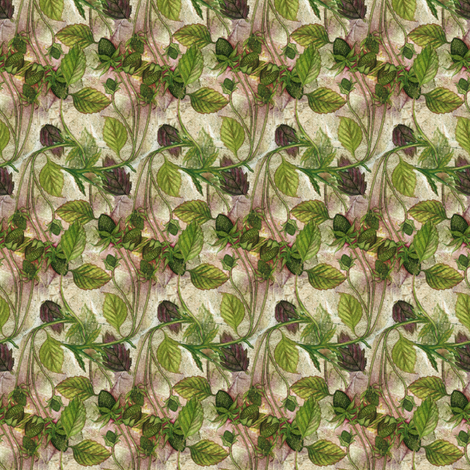 Wild Green Strawberries fabric by helenklebesadel on Spoonflower - custom fabric