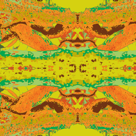 Sunday Best Orange-Lime Salad Surprise fabric by susaninparis on Spoonflower - custom fabric