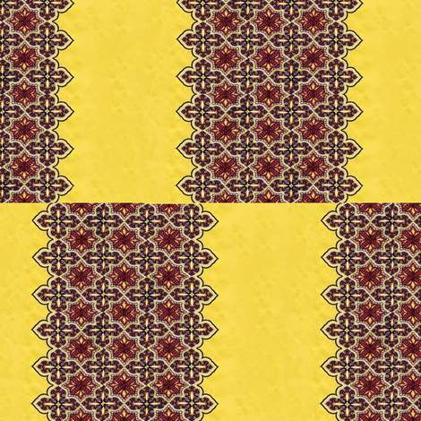 1950_vintage_yellow__red_and_black_dress_fabric fabric by vinkeli on Spoonflower - custom fabric