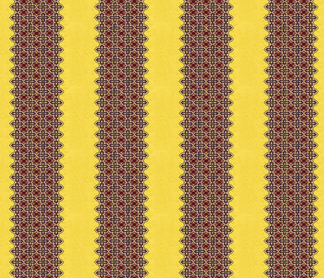 1950_vintage_yellow__red_and_black_dress_fabric__stripe fabric by vinkeli on Spoonflower - custom fabric
