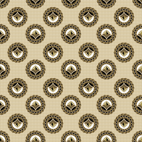 admiral__medallions_and_background_taupe_black2 fabric by joanmclemore on Spoonflower - custom fabric