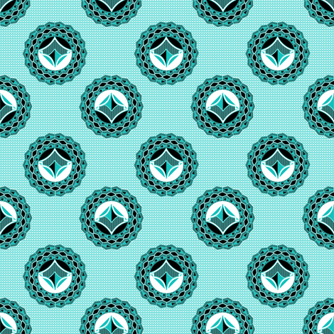 Admiral_medallions_turquoise fabric by joanmclemore on Spoonflower - custom fabric