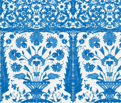bosporus_tiles blue-white 1 fabric by miss_blümchen on Spoonflower - custom fabric