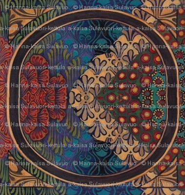 A_piece_of_the_original_acrylic_painting_by_Emily_Balivet__2009_Meditrina__Roman_goddess_of_vine__tiled