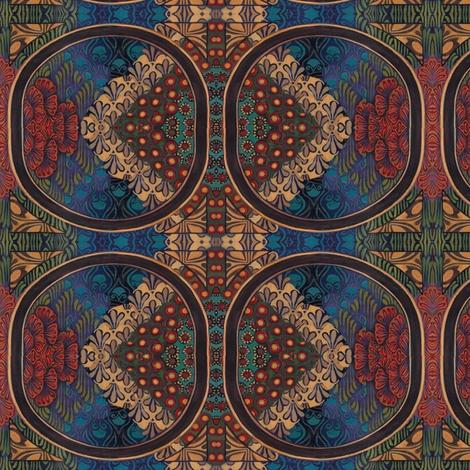 A_piece_of_the_original_acrylic_painting_by_Emily_Balivet__2009_Meditrina__Roman_goddess_of_vine__tiled fabric by vinkeli on Spoonflower - custom fabric