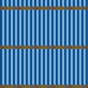 Blue Egyptian Stripes