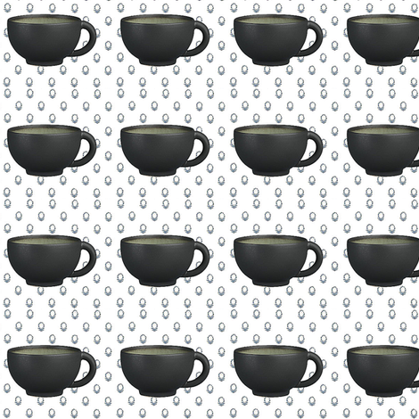 espress cup fabric by dreamskyart on Spoonflower - custom fabric
