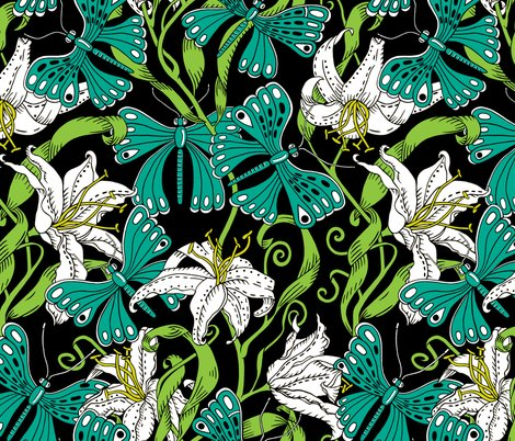 Rbutterflies_spoon_lily_pond_colours_copy_shop_preview