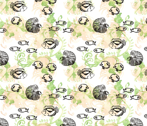 GirlThree2011_Fish fabric by nikky on Spoonflower - custom fabric