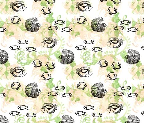 GirlThree2011_Fish fabric by nikky on Spoonflower - custom fabric