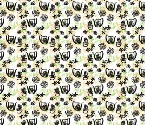 GirlThree2011_FLOWER fabric by nikky on Spoonflower - custom fabric