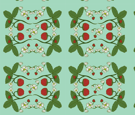 STRAWBERRIES  fabric by garwooddesigns on Spoonflower - custom fabric