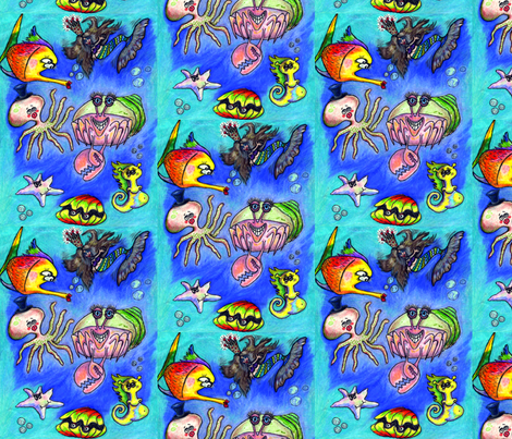 Sea Critters fabric by amy_g on Spoonflower - custom fabric