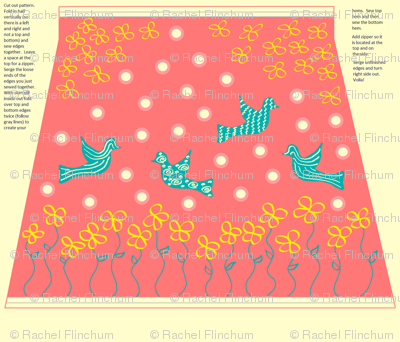 Coral Humming Bird Skirt Pattern w/ Instructions