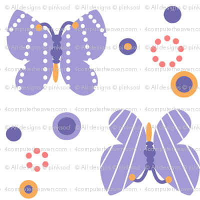 Butterflies & Dots! - Sunshine Days - © PinkSodaPop 4ComputerHeaven.com