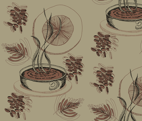 Wiccked_Coffee fabric by wiccked on Spoonflower - custom fabric
