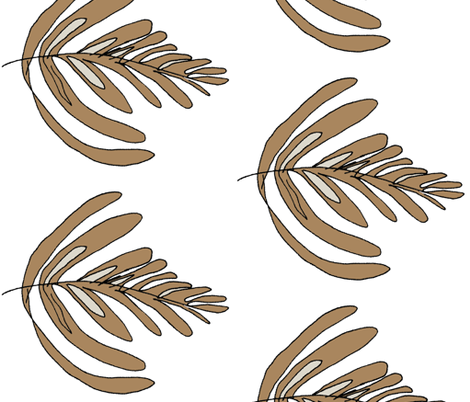 Wiccked_Coffee_Milk_Swirl fabric by wiccked on Spoonflower - custom fabric