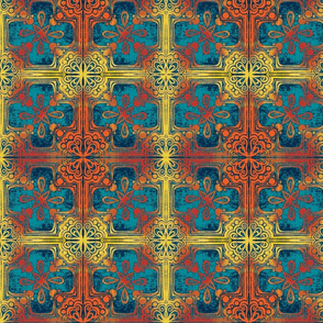 Cross Tile Teal