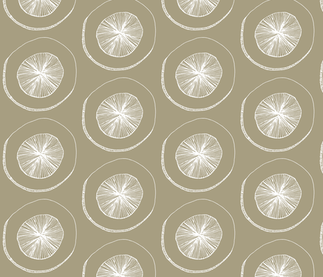 Cream_Saucer fabric by wiccked on Spoonflower - custom fabric