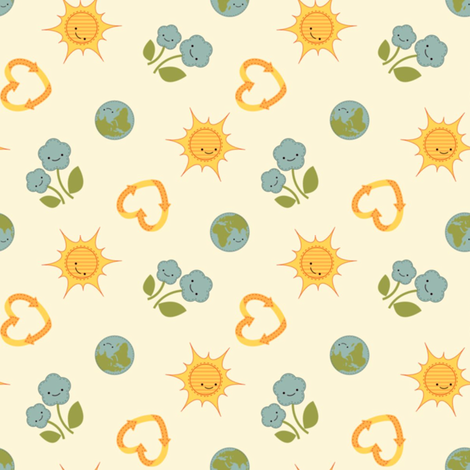 You are My Eco-Friendly Sunshine fabric by saraink on Spoonflower - custom fabric