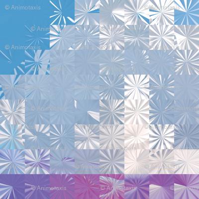Cloud Snowflake Squares, L