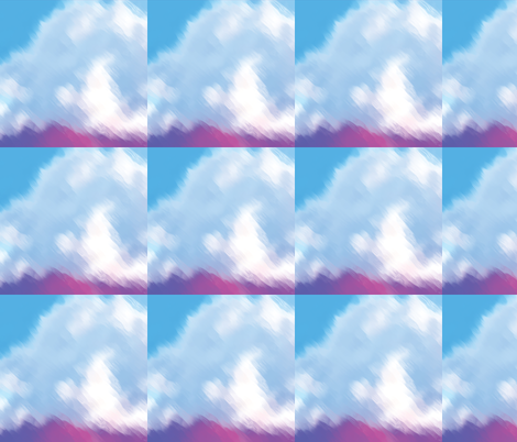 Painted Clouds, L fabric by animotaxis on Spoonflower - custom fabric