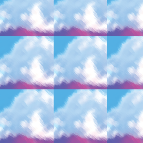 Painted Clouds, S fabric by animotaxis on Spoonflower - custom fabric