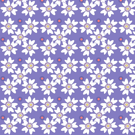 Flower Trellis & Dots! - Sunshine Days - © PinkSodaPop 4ComputerHeaven.com fabric by pinksodapop on Spoonflower - custom fabric
