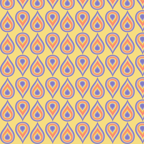 Rainbow Drops! - Sunshine Days - © PinkSodaPop fabric by pinksodapop on Spoonflower - custom fabric