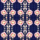Rrr50ies_vintage_dress_fabric_pink_flowers_on_bright_navy_background_shop_thumb
