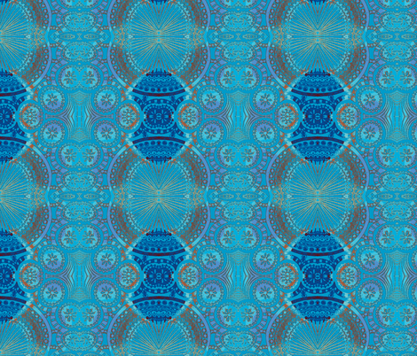 TangleFan Blues fabric by joonmoon on Spoonflower - custom fabric