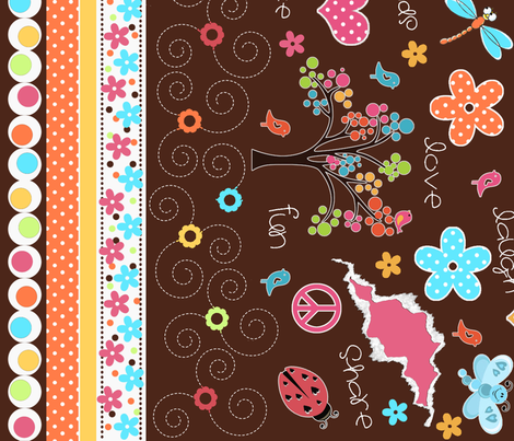 GirlsRule2011 fabric by jpdesigns on Spoonflower - custom fabric
