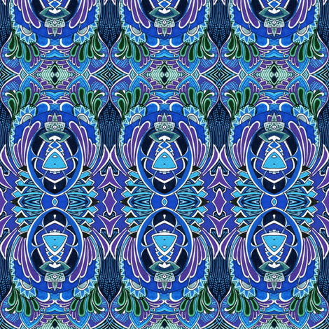 Don't Bug Me (musings on a nouveau scarab) fabric by edsel2084 on Spoonflower - custom fabric