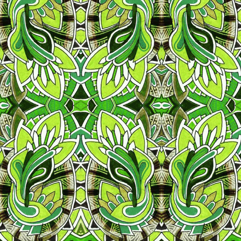 DecoRational Gardening (green) fabric by edsel2084 on Spoonflower - custom fabric