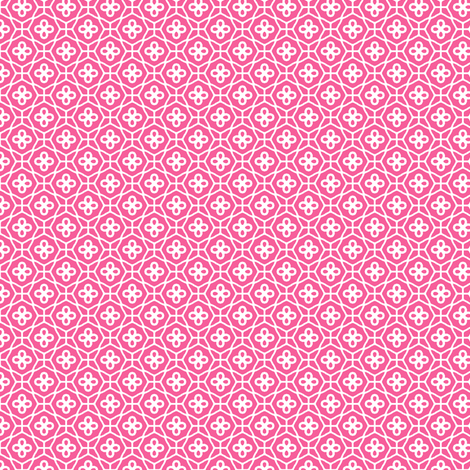 Pink Lattice fabric by inscribed_here on Spoonflower - custom fabric