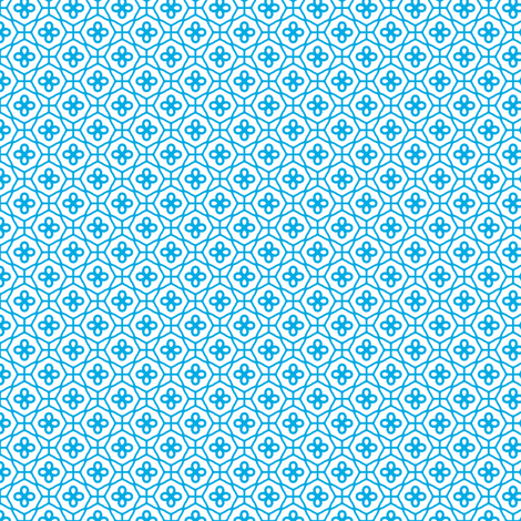 Blue Lattice fabric by inscribed_here on Spoonflower - custom fabric