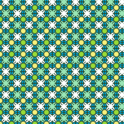 Broken Windows - Green fabric by inscribed_here on Spoonflower - custom fabric