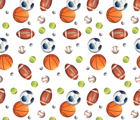Play Ball! fabric by twobloom on Spoonflower - custom fabric