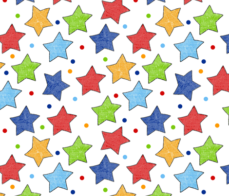 Happy Friends Prince Stars fabric by jpdesigns on Spoonflower - custom fabric