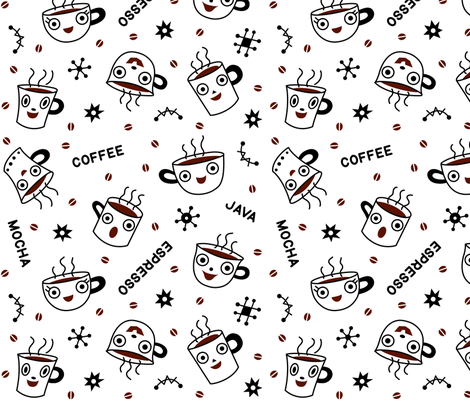 Coffee Time fabric by andibird on Spoonflower - custom fabric